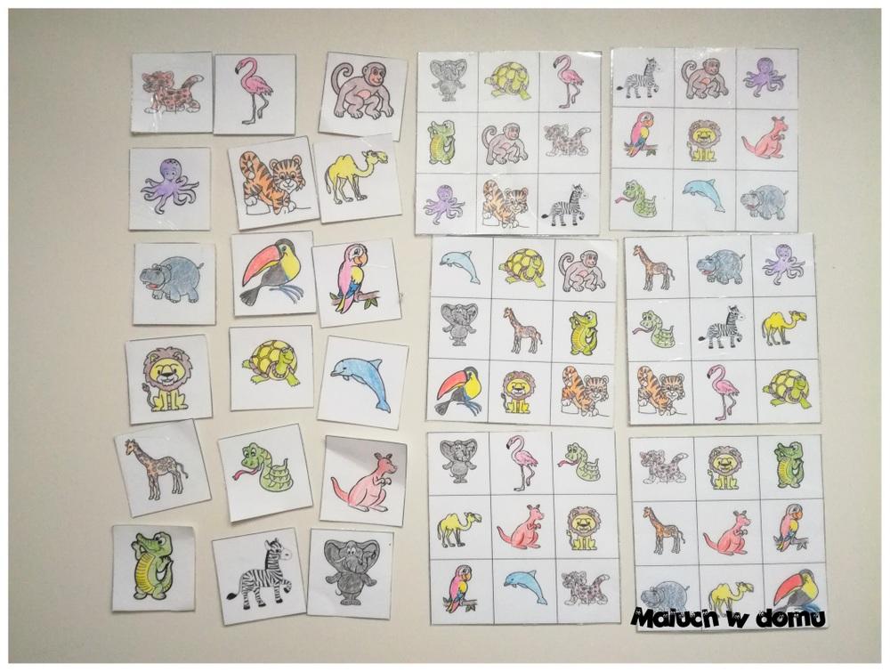 Gra w Bingo! Zwierzęta