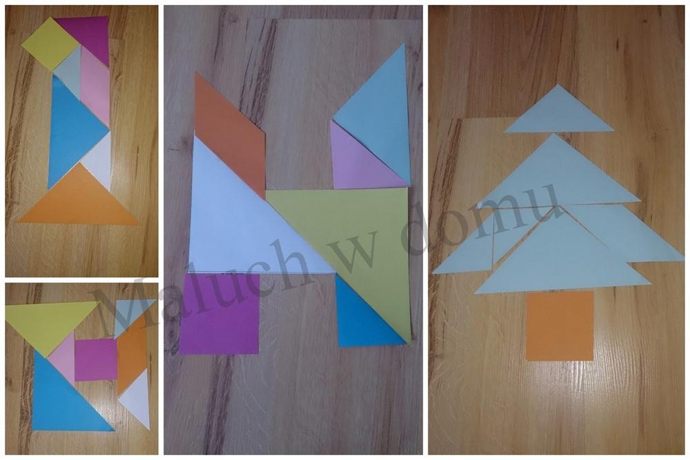 Tangram litery, cyfry i inne