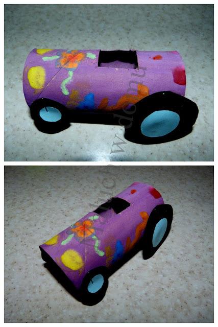 Pojazdy z rolek po papierze