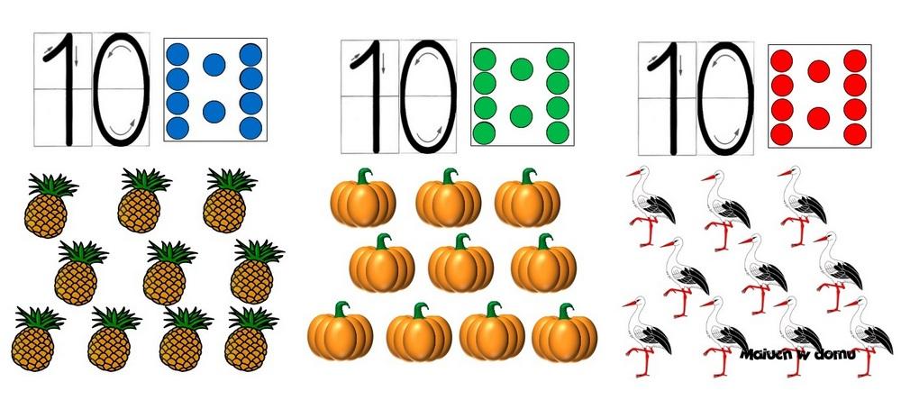 Tablice z liczbą 10