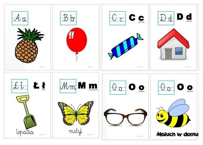 Tablice z literami do nauki czytania do pobrania