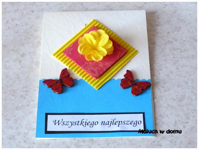 Kartka okolicznościowa na urodziny handmade