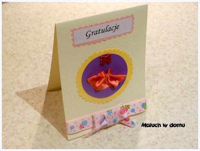 Kartka okolicznościowa handmade z okazji narodzin dziewczynki