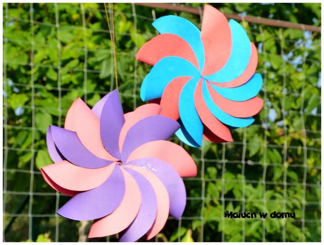 Wiatraki origami z kół