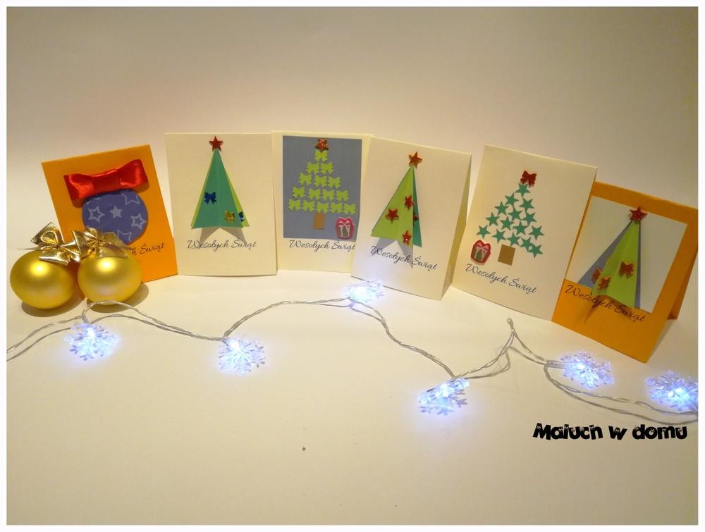 kartki handmade na Boże Narodzenie