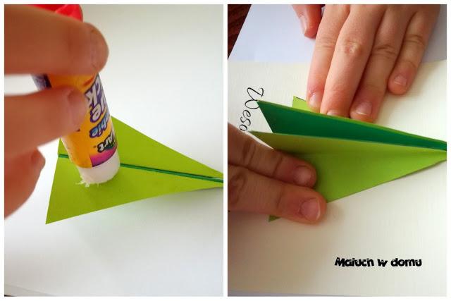 "DIY: Kartki handmade z choinką ""3D"""