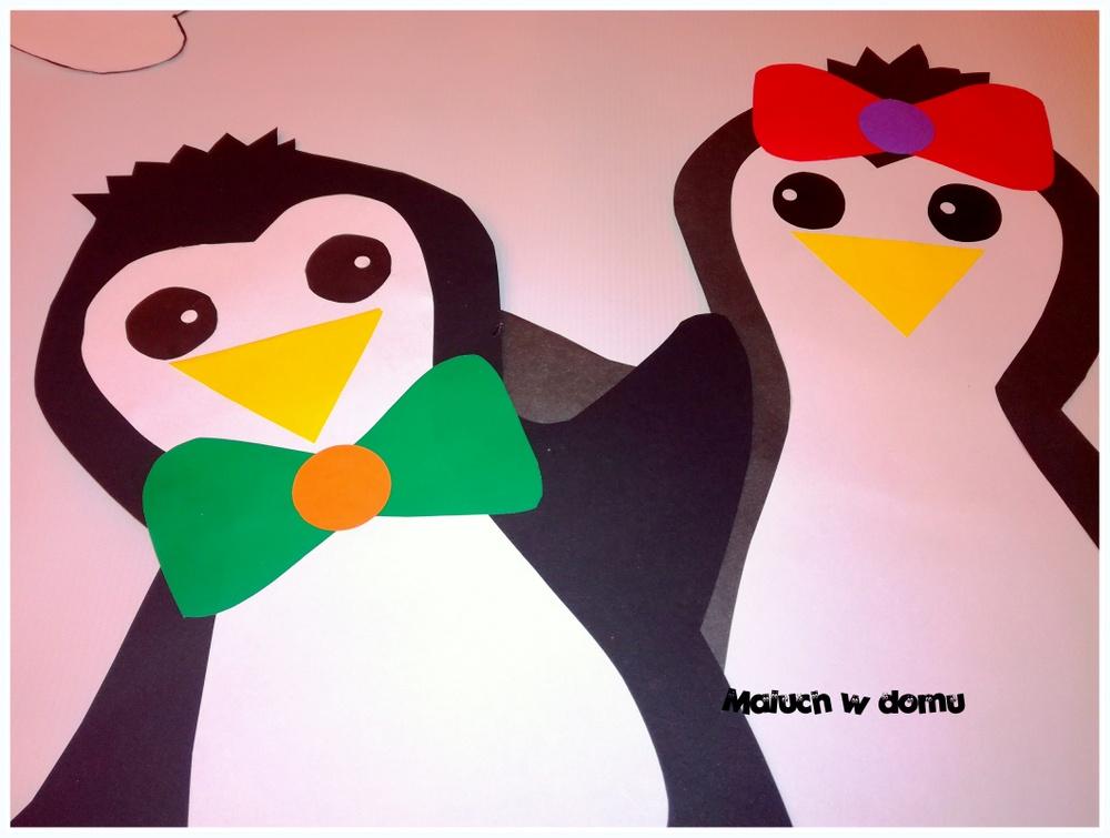 Szablon pingwinów