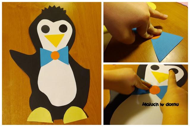 Jak zrobić pingwina - szablon