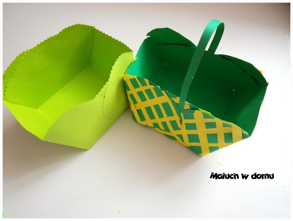 Pudełeczko-koszyczek z tektury - szablon