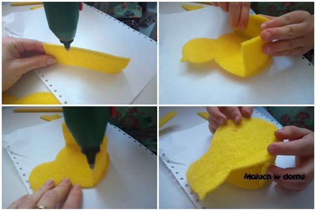 Jak zrobić koszyczek-kurczaczka z filcu