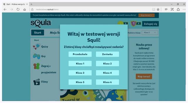 Poziomy terudności w squla.pl