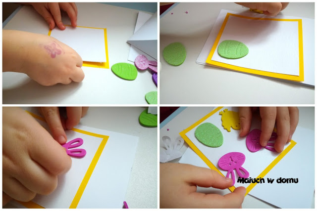 Jak zrobić kartki wielkanocne handmade z piankowymi naklejkami