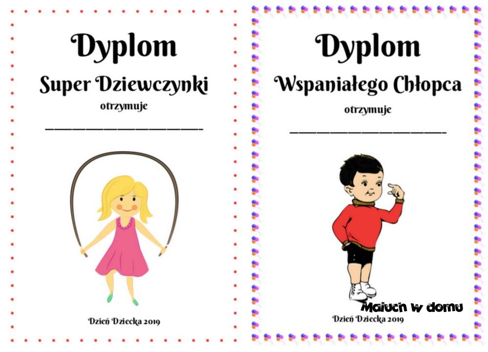Dyplomy na Dzień Dziecka