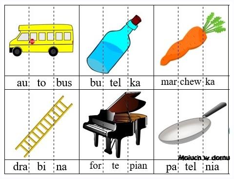 Ilustracje z sylabami