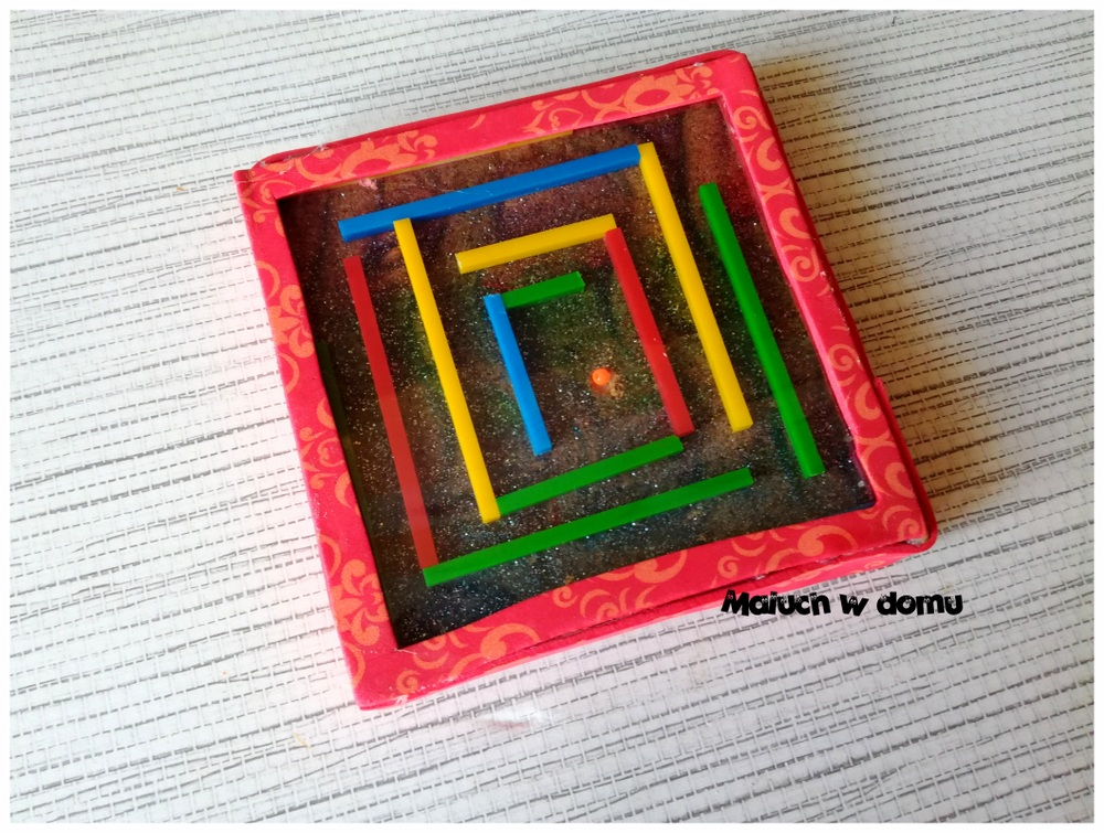 Gra zręcznościowa labirynt handmade