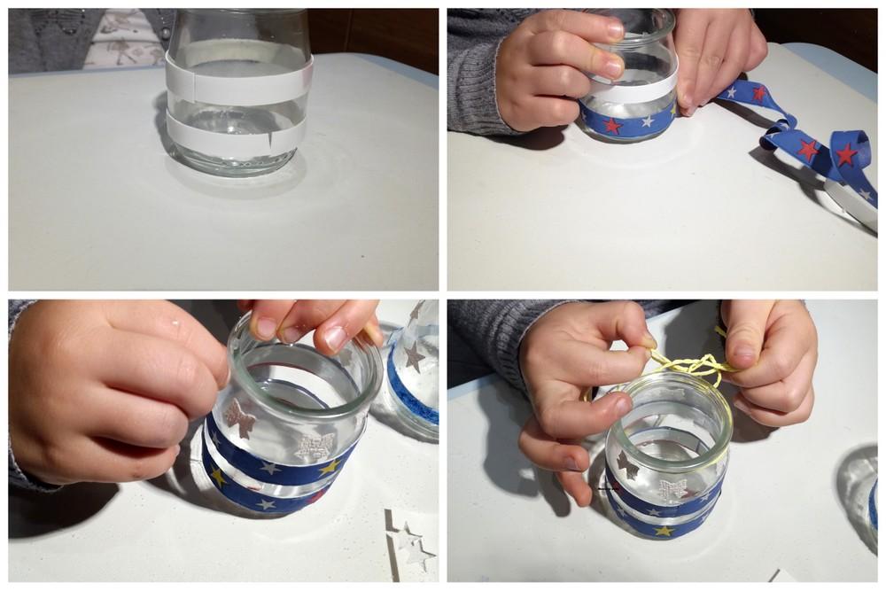 Łatwe świeczniki ze słoiczków