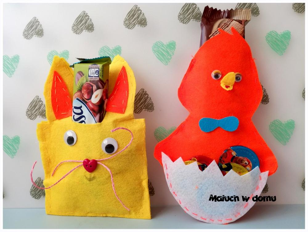 Wielkanocny Kurczak I Zajac Z Filcu Na Slodycze Maluch W Domu