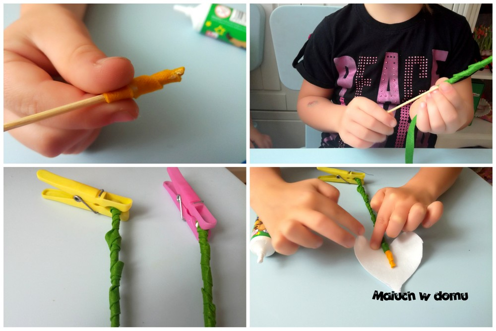 Kwiaty z filcu - kalia