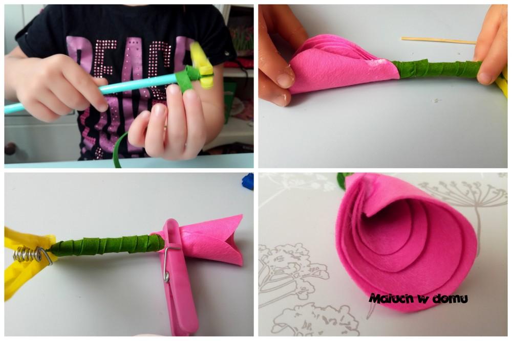 Jak zrobić różę z filcu