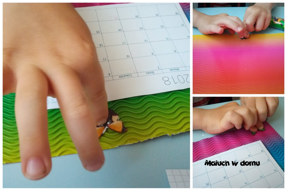 Kalendarz na lodówkę - prezent wykonany przez dziecko