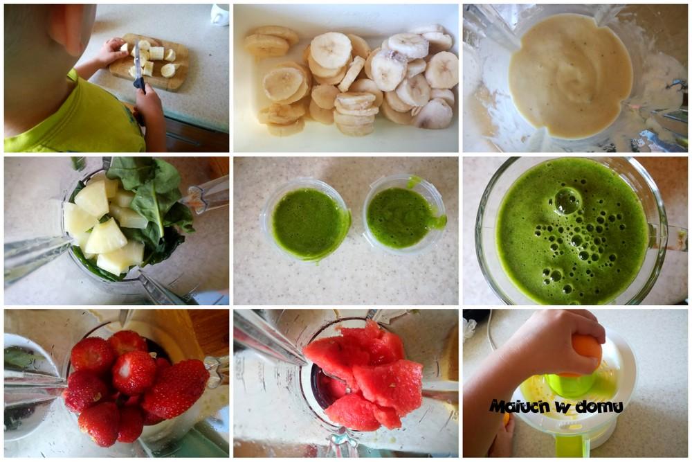 Lody z owoców i warzyw