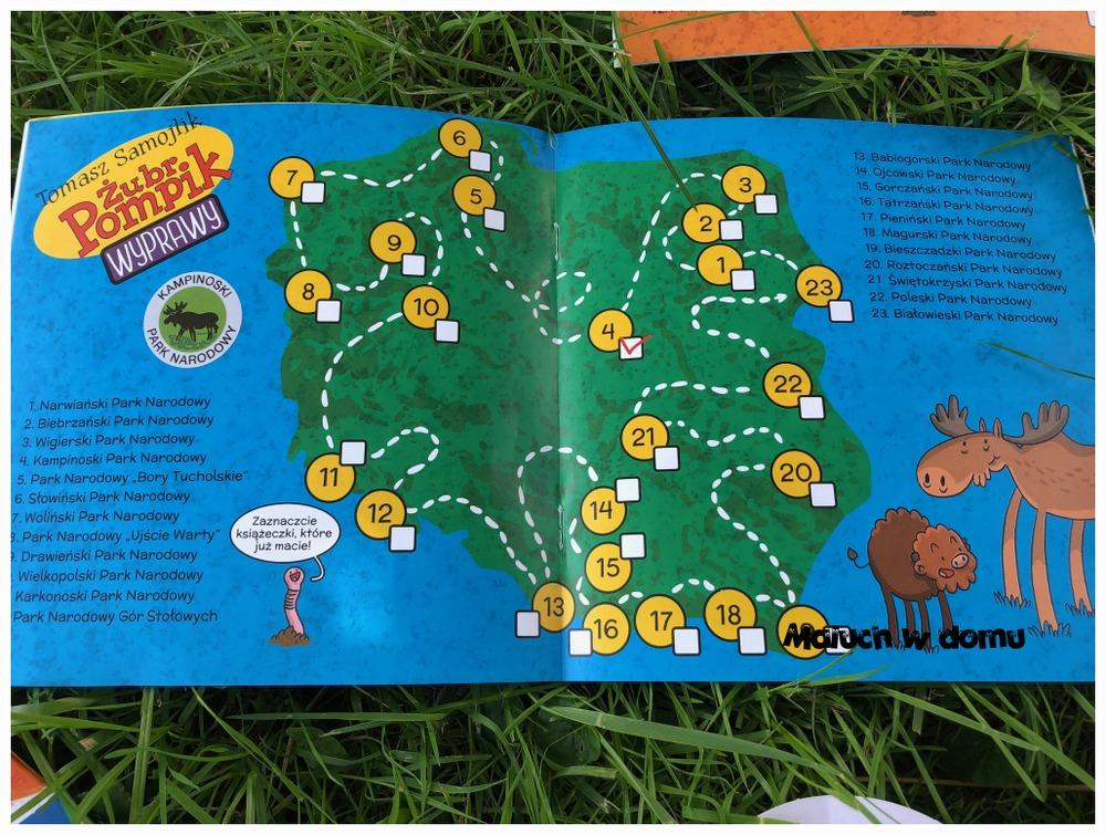 Żubr Pompik - mapa wypraw