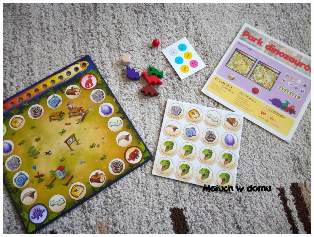 Park dinozaurów - elementy gry