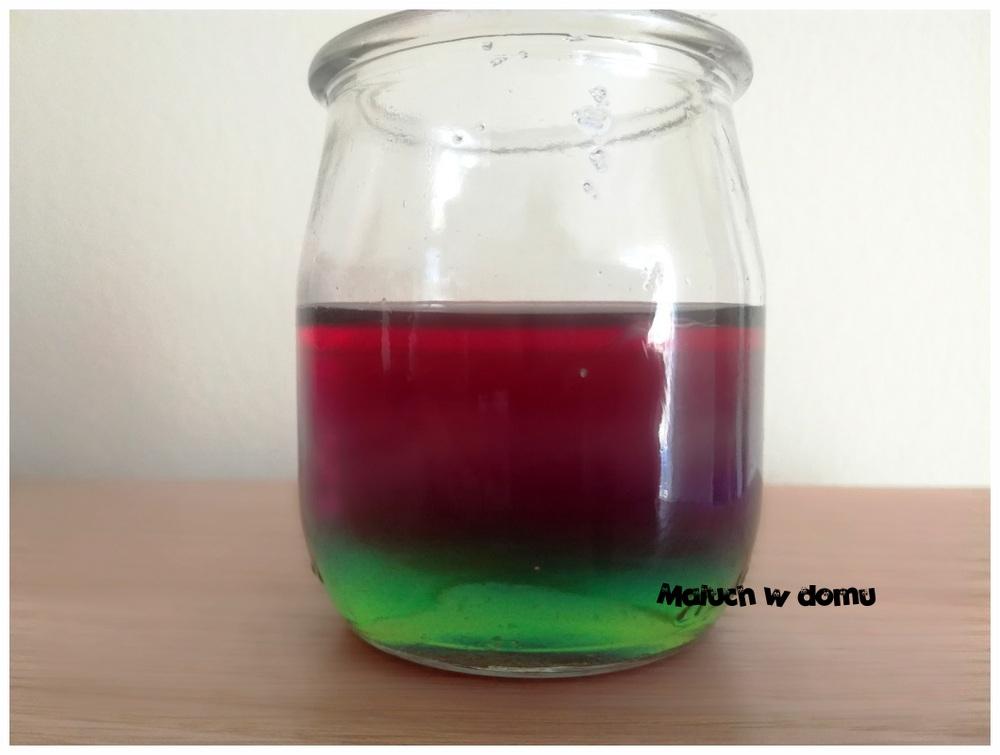 Kolorowe wodne warstwy