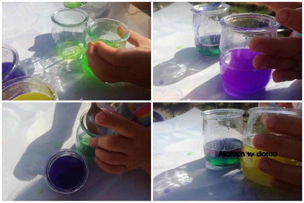 Eksperyment: kolorowe wodne wartswy
