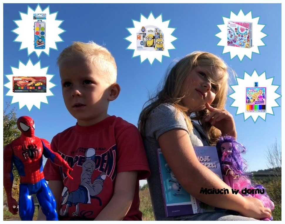 Artykuły plastyczne i zabawki kreatywne z ulubionymi bohaterami