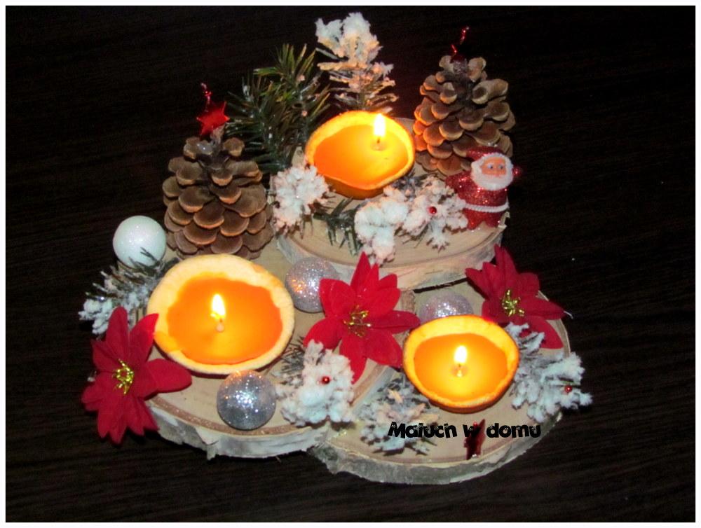 Świąteczny świecznik DIY