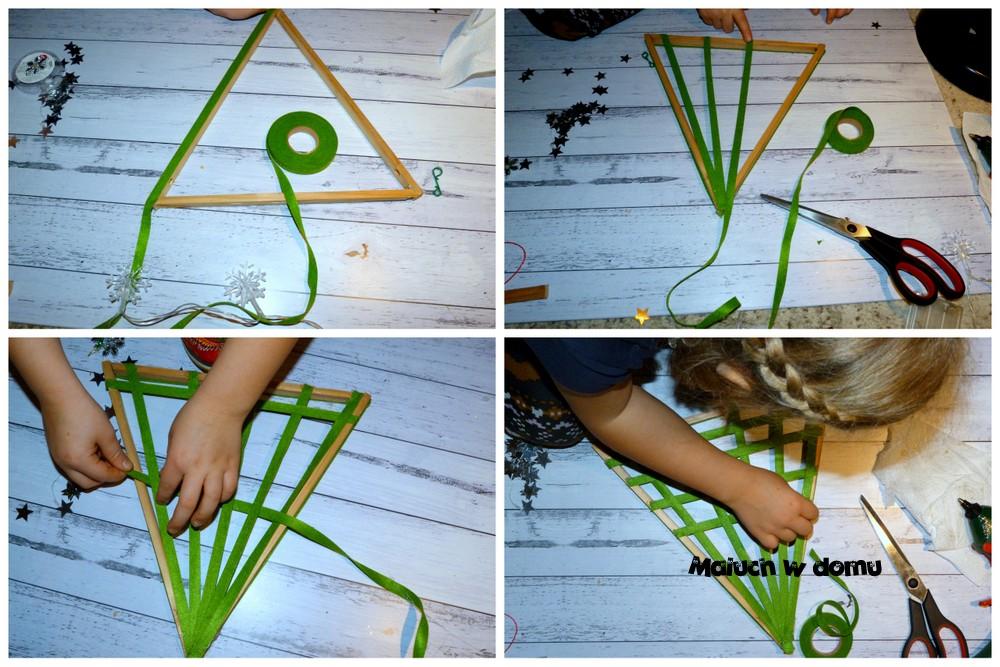 Choinka z wykorzystaniem filcowej wstążki
