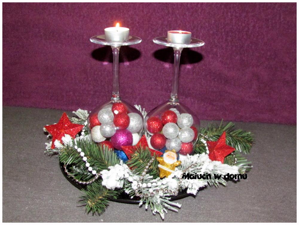 Świąteczna dekoracja z kieliszków w 5 minut