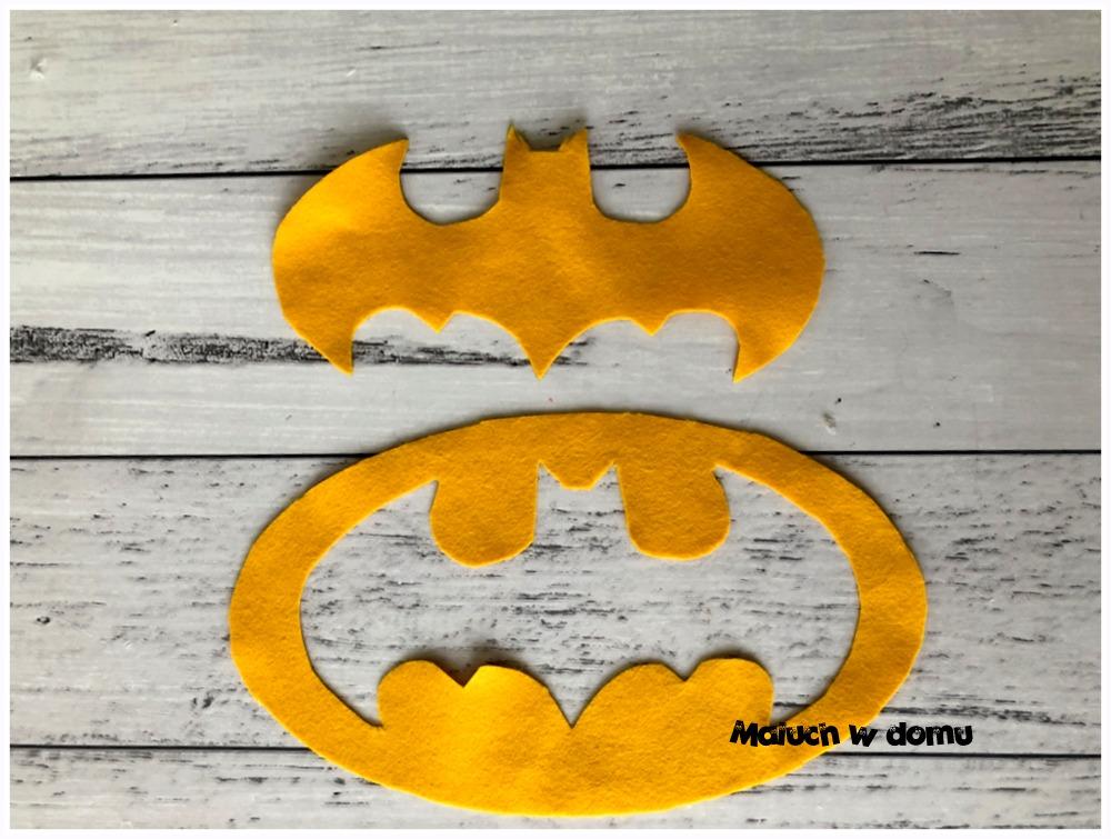 Logo Batmana na strój karnawałowy