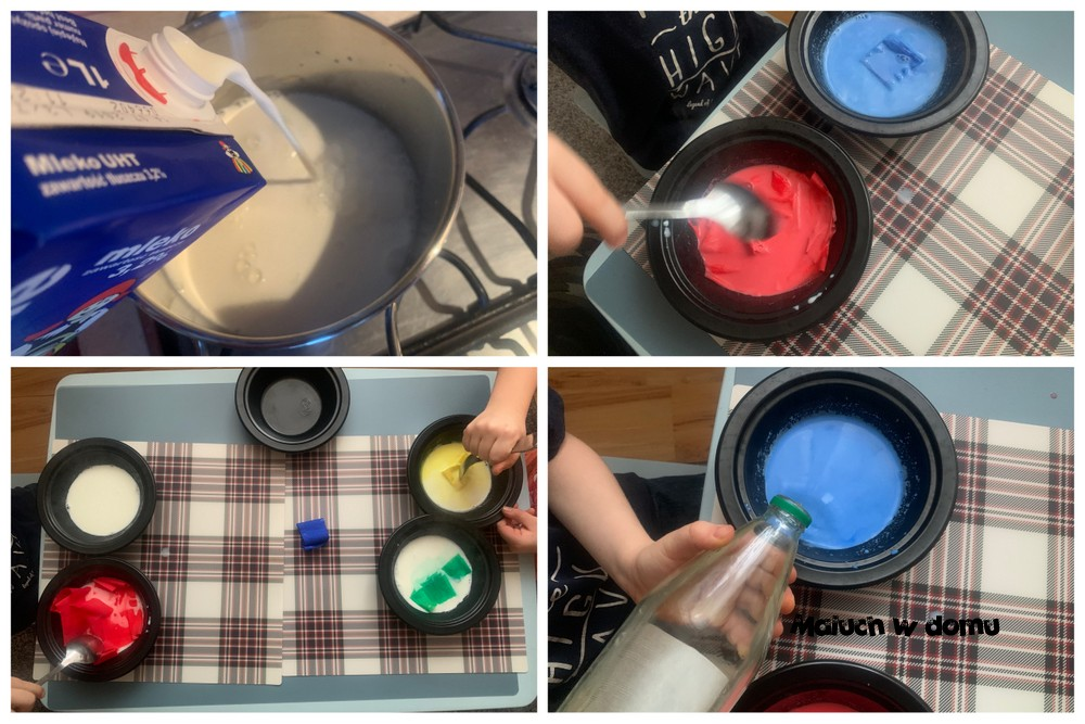 Barwienie mleka