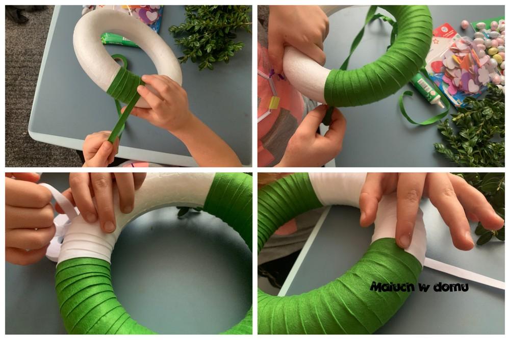 Wianek styropianowy DIY