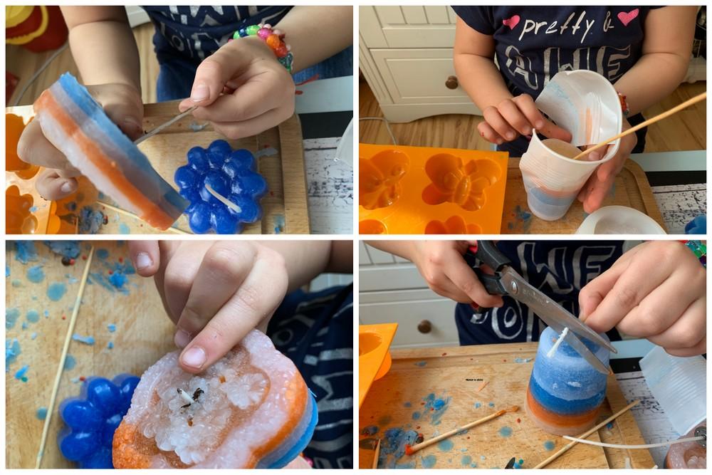 Świeczki DIY w nietypowych kształtach