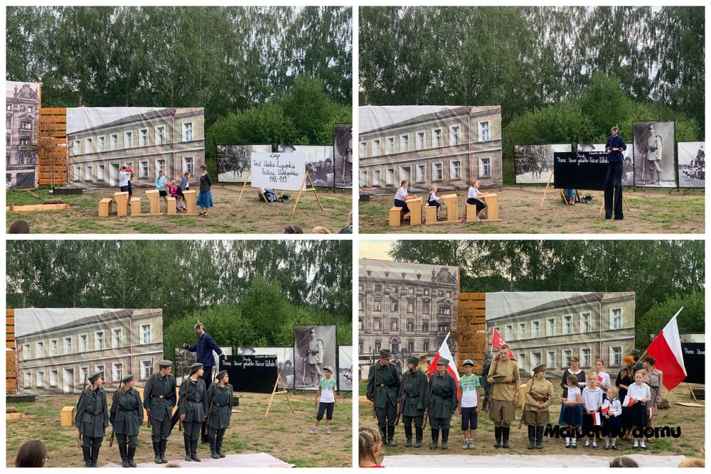 Inscenizacja Powstania Wielkopolskiego w Parku Dzieje