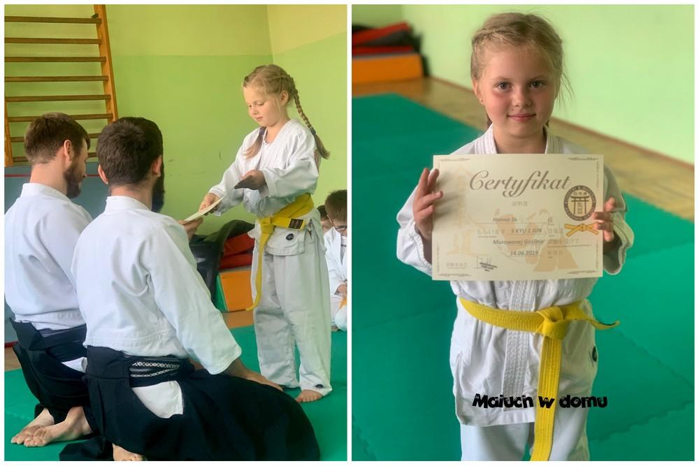Egzamin aikido dla dzieci