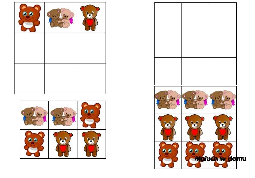 Sudoku 3x3 na Dzień Pluszowego Misia do pobrania