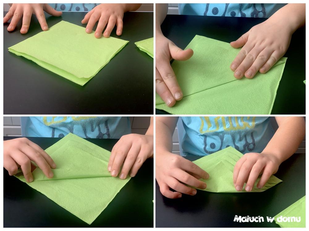 Jak złożyć serwetkę w choinkę