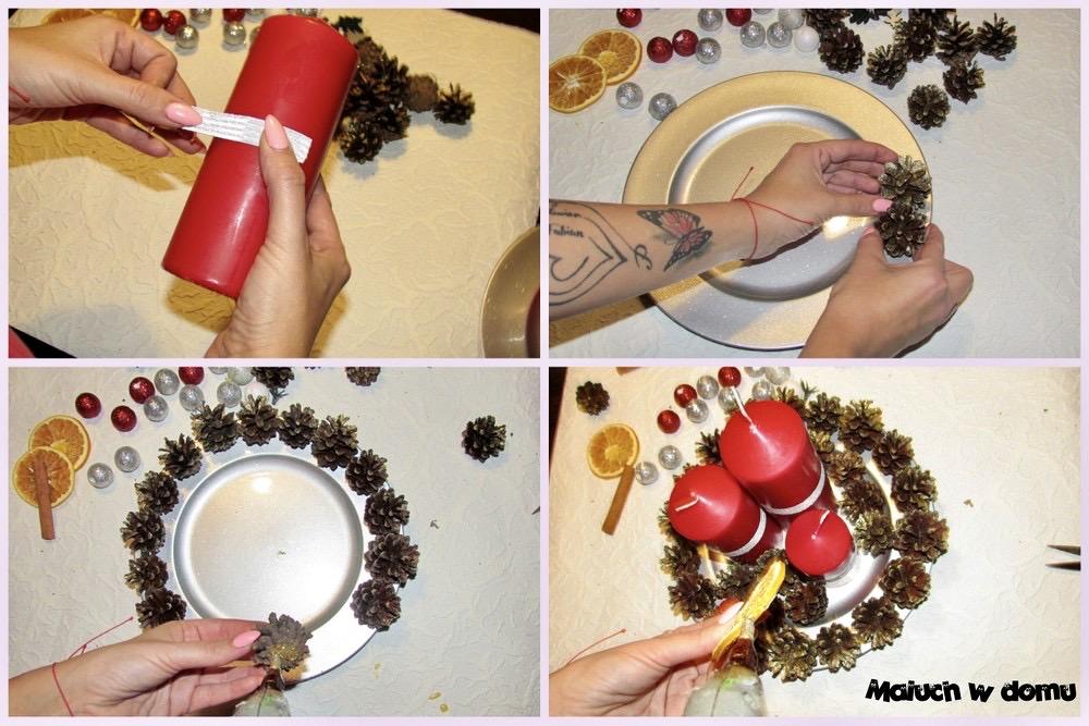 prosty stroik dekoracyjny DIY