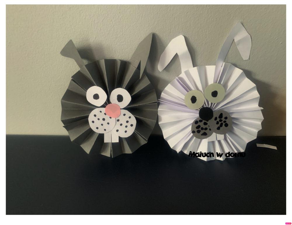 Łatwy króliczek z papieru