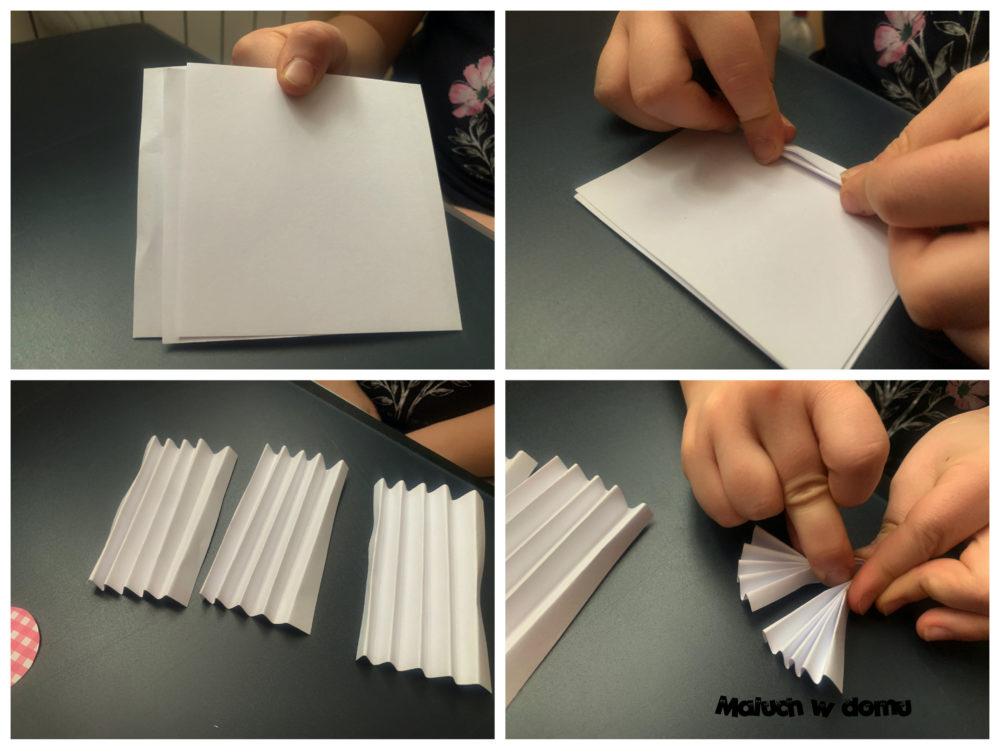 Składanie kartki w harmonijkę