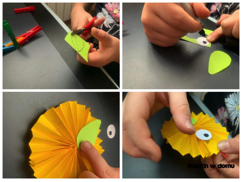 Ptaszek, kurczak z papieru
