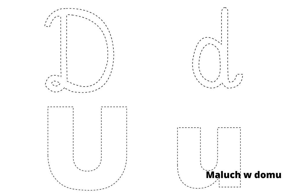 Karty pracy z literami i cyframi do druku