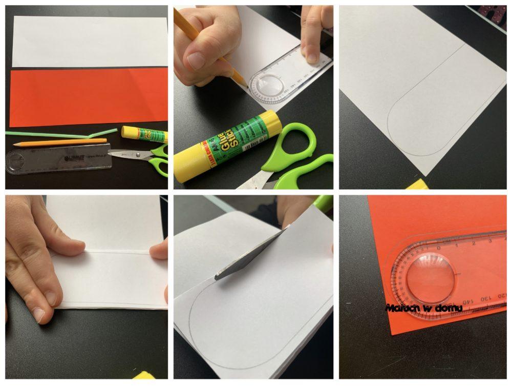 Praca z papieru w kolorach Polski
