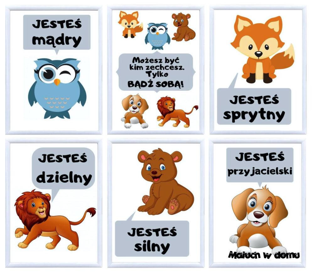Plakaty motywacyjne dla dzieci