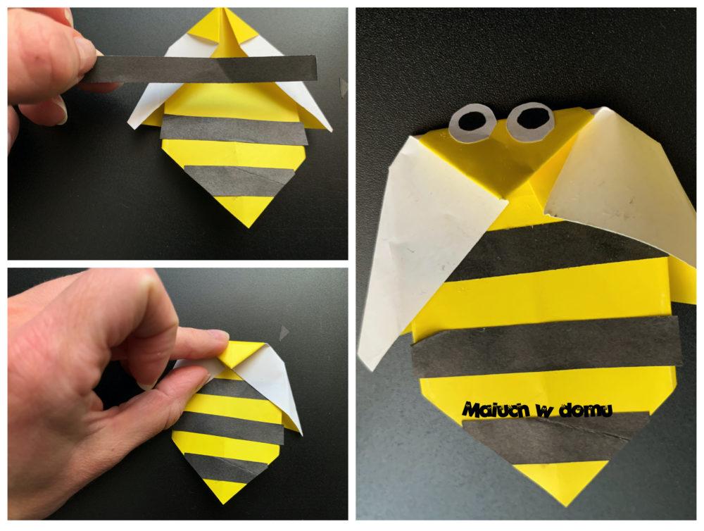 Origami na wiosennej łące Osa
