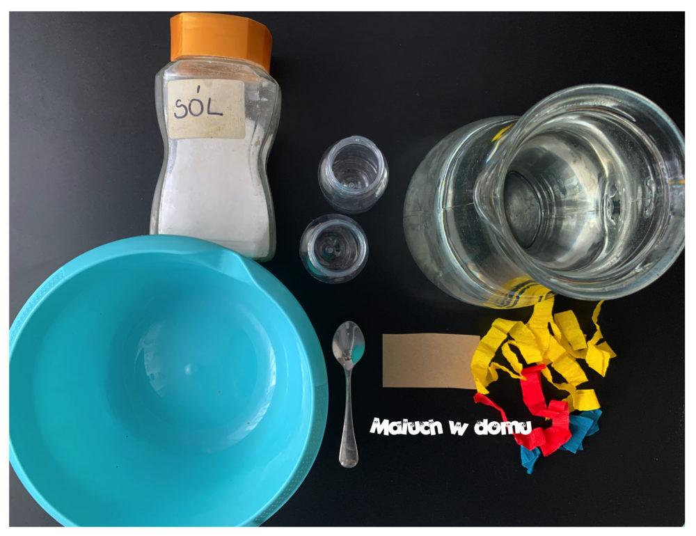 Doświadczenie z wodą -potrzebne materiały